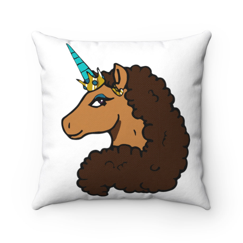 Afro Unicorn Decorative Pillow - Vanilla- Afro Unicorn