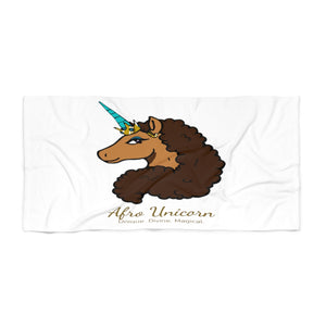 Afro Unicorn Beach Towel - Vanilla- Afro Unicorn