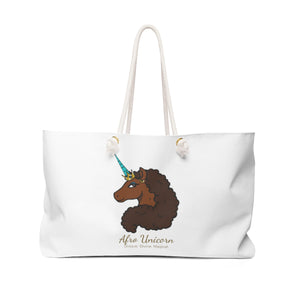 Afro Unicorn Weekender Bag - Caramel- Afro Unicorn