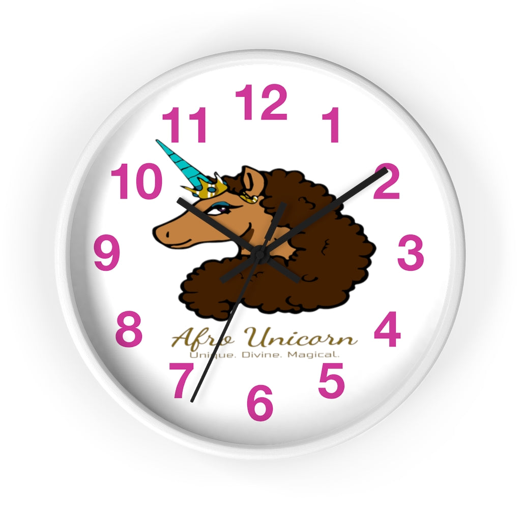Afro Unicorn Numbered Clock -Vanilla (P)- Afro Unicorn