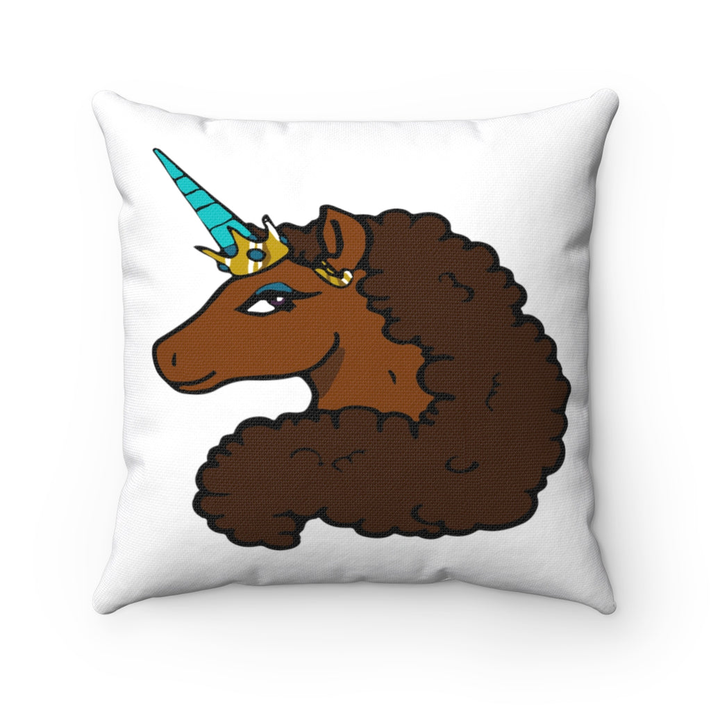 Afro Unicorn Decorative Pillow - Caramel- Afro Unicorn