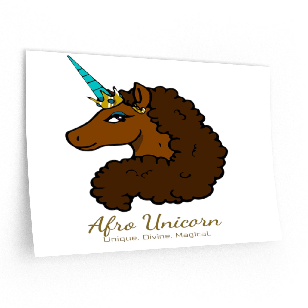 Afro Unicorn Wall Decals - Caramel- Afro Unicorn