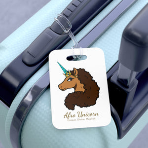 Afro Unicorn Luggage Tag - Vanilla- Afro Unicorn