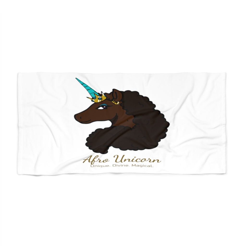 Afro Unicorn Beach Towel - Mocha- Afro Unicorn