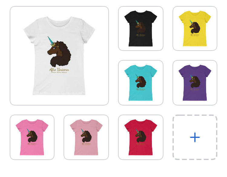 Afro Unicorn Youth Tee - Mocha