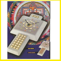 Fortune Clock Gold Pyramid