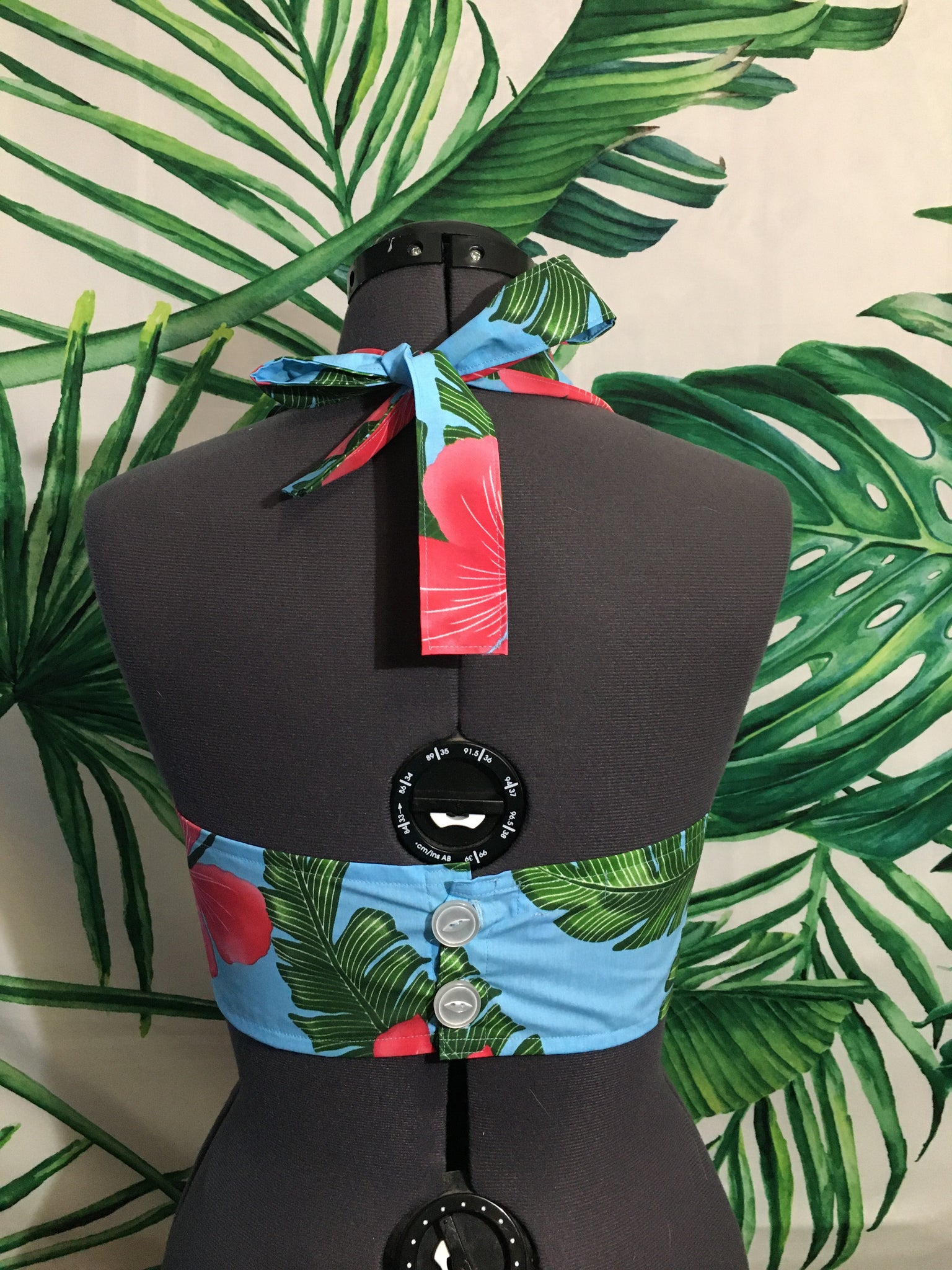 Mai Tai Halter - Island Blue - Hibiscus Collection