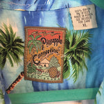 Vintage Pineapple Connection 🌴 Men's Vacation Hotel Shirt XL