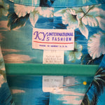 Vintage Ky's Int. Fashion 🌴 Men's Blue Hawaii Shirt XL