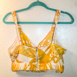 Tropical yellow halter top