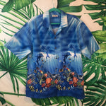 Vintage CT Hawaiian Fashions 🌴 Men's Hawaiian Dolphin Shirt XL