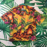 Vintage Paradise on a Hanger 🌴 Men's Hawaiian Volcano Shirt XL