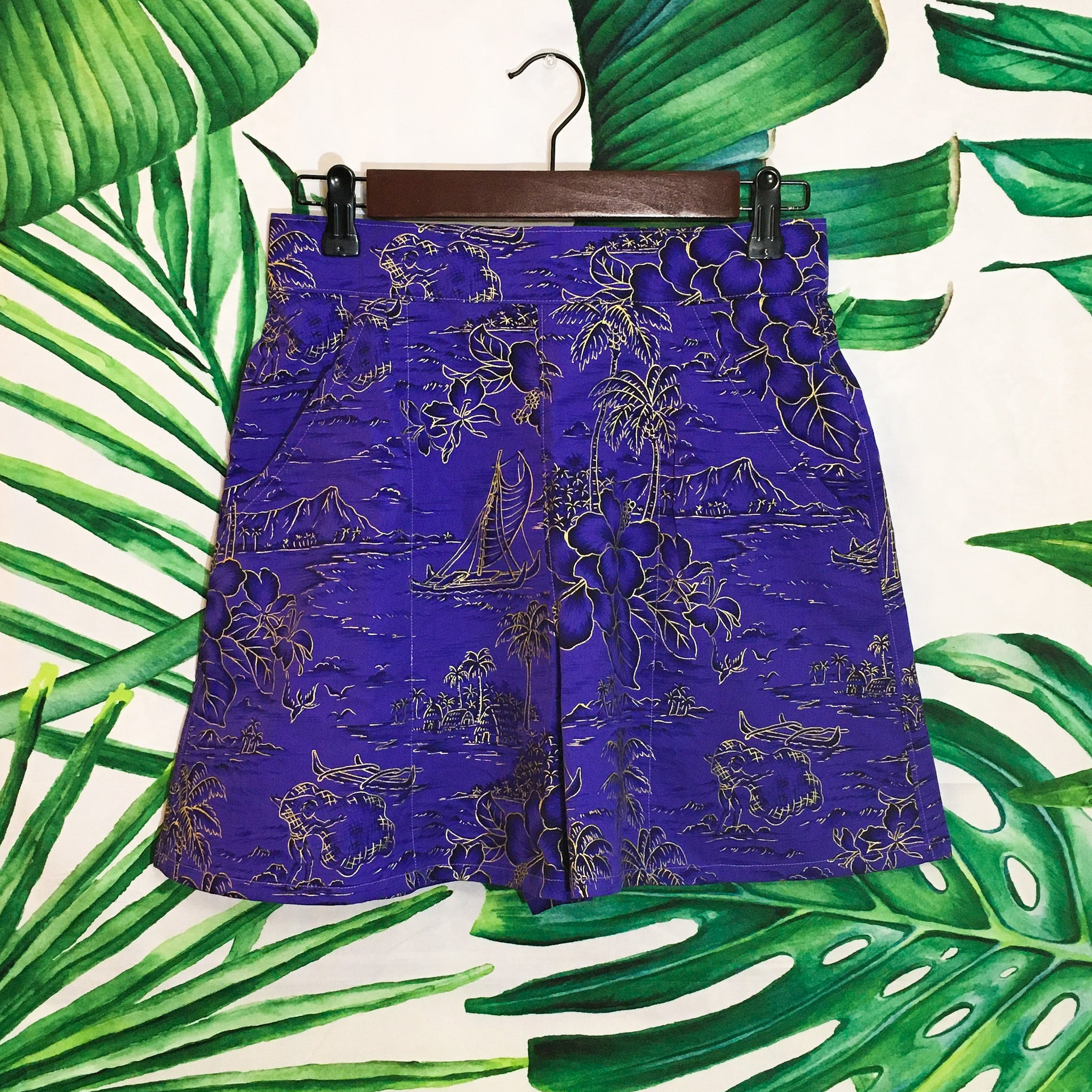 Island Hop Shorts - Deep Purple - Mochi Collection