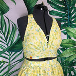Mai Tai Halter Set - Floral Yellow