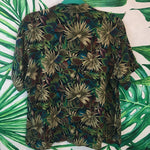 Vintage Jungle Print 🌴 Women's Hawaiian Shirt LG