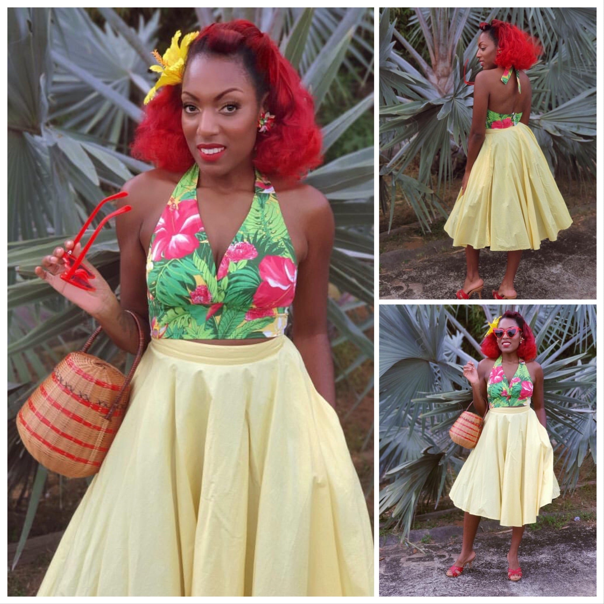 Mai Tai Halter - Island Yellow - Hibiscus Collection