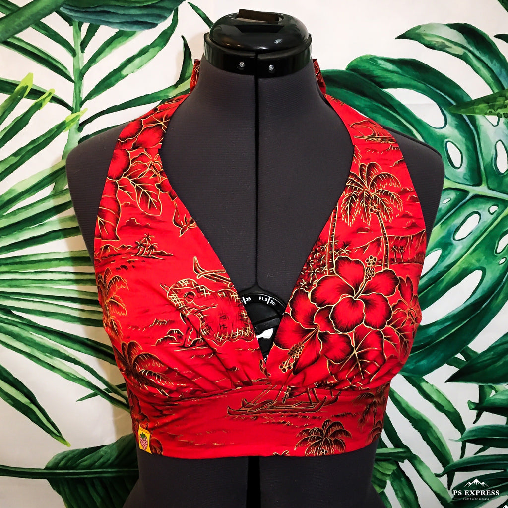 Mai Tai Halter - Crimson - Mochi Collection
