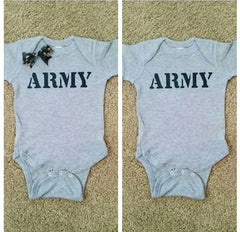 ARMY Onesie - unisex child clothing - Childrens Clothing  - Ruffles with Love - Baby Clothing - RWL Kids