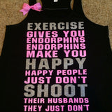 Legally Blonde Tank - Exercise Gives you Endorphins - Ruffles with Love - RWL - Bow Tank