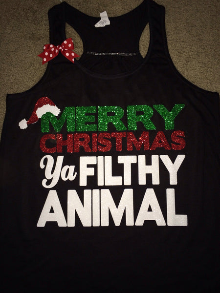 Merry Christmas Ya Filthy Animal Christmas Shirt