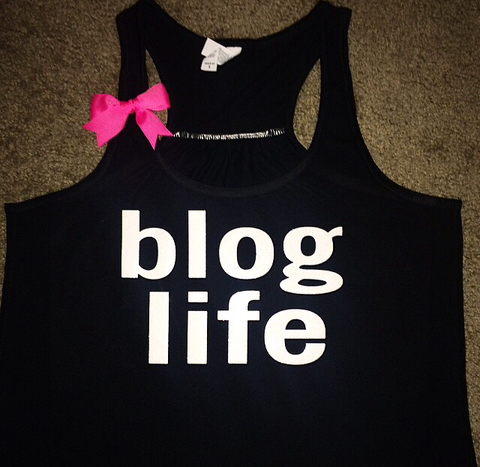 Blog Life - Ruffles with Love - Racerback Tank - Womens Fitness - Workout Clothing - Workout Shirts with Sayings