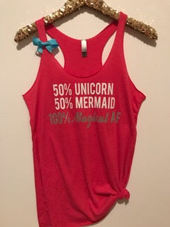50% Unicorn 50% Mermaid 100% Magical - Ruffles with Love - RWL - Graphic Tee