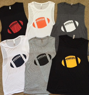 Football Tank -  Ruffles with Love - Muscle Tank - Custom Football Tank