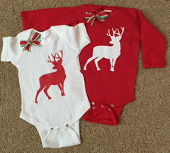 Reindeer Onesie - Christmas Onesie - RWL Kids - Ruffles with Love - Baby Clothing - RWL