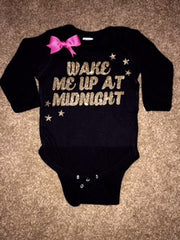 Wake Me Up At Midnight - New Years Shirt - NYE - RWL Kids - Ruffles with Love - Baby Clothing - RWL