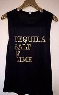 Tequila Salt & Lime - Muscle Tank - Ruffles with Love - Womens Fitness Clothing - Workout Tank