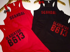Scandal Tank - Gladiator B 613 - Ruffles with Love - Fun Tank - Workout Tank