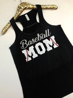 Baseball Mom - Sport Mom - Ruffles with Love - Racerback Tank - RWL
