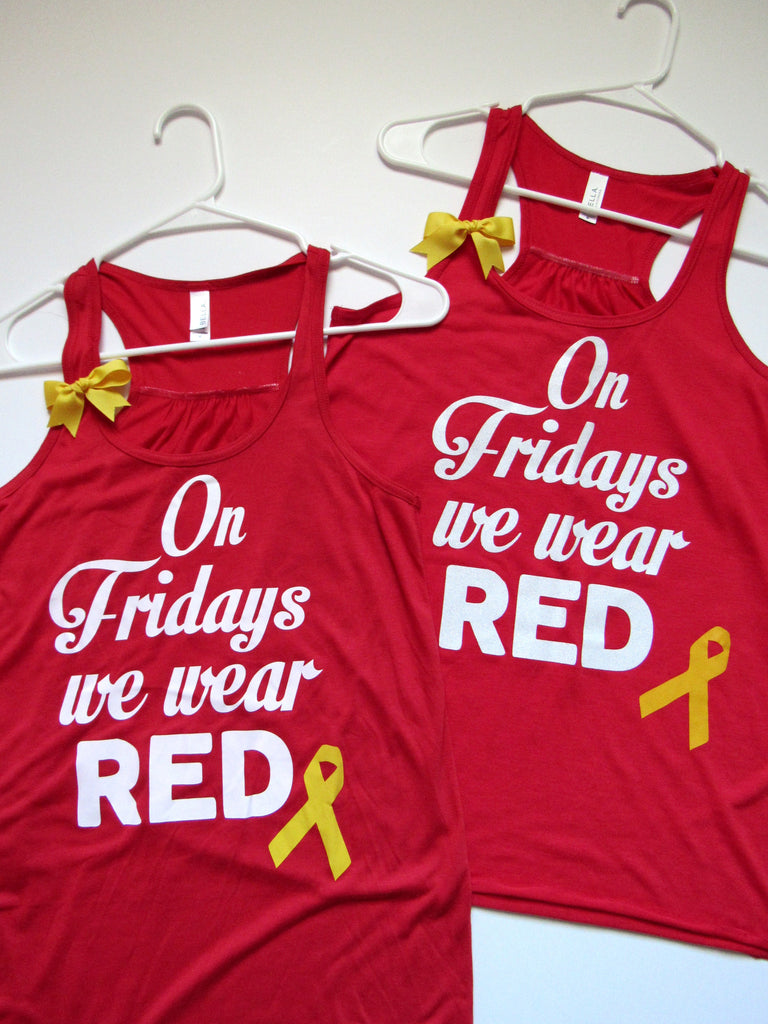 SALE - ON FRIDAYS WE WEAR RED - Ruffles with Love - Racerback Tank - Womens Fitness - Workout Clothing - Workout Shirts with Sayings