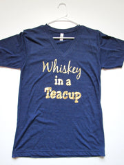SALE - SMALL - WHISKEY IN A TEACUP - T-Shirt - Ruffles with Love - Womens Fitness - Workout Clothing - Workout Shirts with Sayings