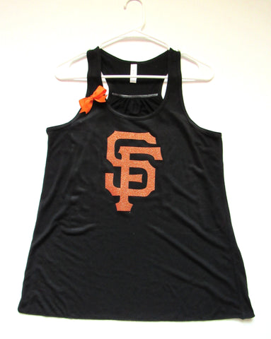 SALE -  GIANTS BASEBALL TANK - Racerback Tank - Ruffles with Love - Womens Fitness - Workout Clothing - Workout Shirts with Sayings