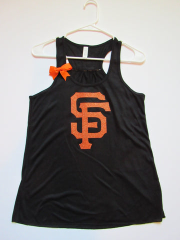 SALE - SF GIANTS TANK - Racerback Tank - Ruffles with Love - Womens Fitness - Workout Clothing - Workout Shirts with Sayings