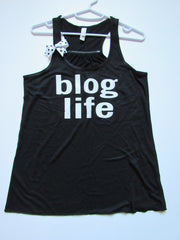 SALE - SMALL - BLOG LIFE TANK - Ruffles with Love - Womens Fitness - Workout Clothing - Workout Shirts with Sayings