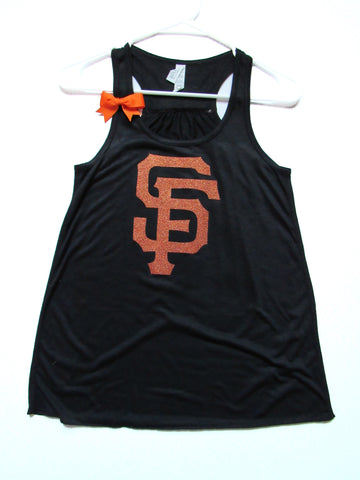 BLACK FRIDAY SAMPLE SALE -  SF GIANTS TANK - Ruffles with Love - Womens Fitness - Workout Clothing - Workout Shirts with Sayings