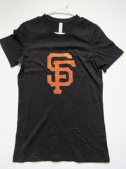 SALE - XL - SF GIANTS T-SHIRT - Ruffles with Love - Womens Fitness - Workout Clothing - Workout Shirts with Sayings
