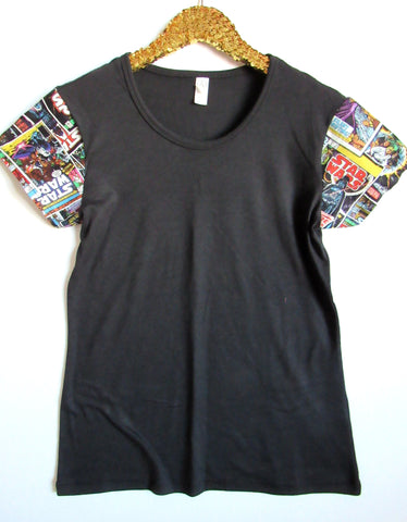 BLACK FRIDAY SAMPLE SALE - Star Wars -  Sleeve Tee - Ruffles with Love - RWL