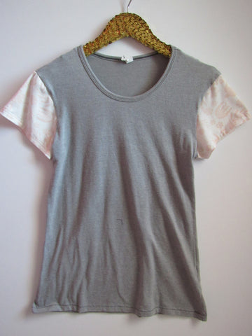 BLACK FRIDAY SAMPLE SALE - Light Pink Floral SLeeves - Sleeve Tee - Ruffles with Love - RWL