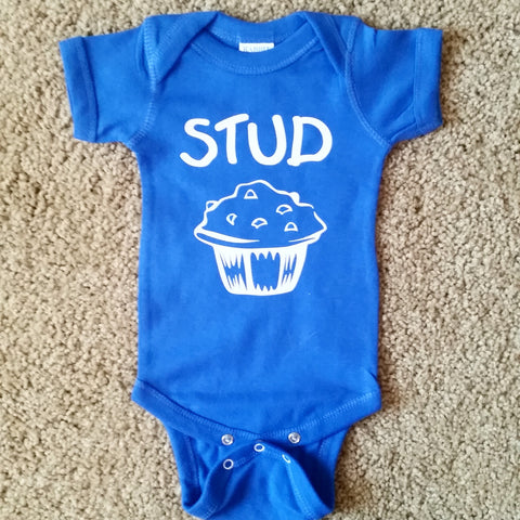 Stud Muffin - Boys Onesie  - Mia Grace Designs - Ruffles with Love - Baby Clothing - RWL Kids