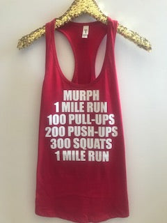Murph - Crossfit Tank - Ruffles with Love - 4th of July - Racerback Tank - Womens Fitness - Graphic Tee