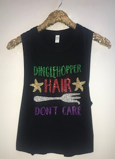 Dinglehopper Hair Don't Care - Little Mermaid - Disney Tank - RWL - Ruffles with Love