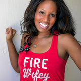 Red Fire Wifey Tank - Fire Wife Apparel - Ruffles with Love