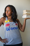 Book Worm - Racerback Tank - Ruffles with Love