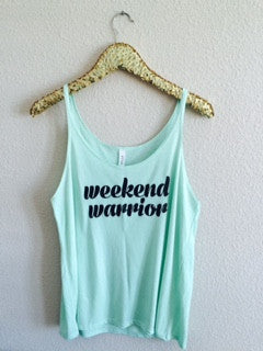 Weekend Warrior - Slouchy Relaxed Fit Tank - Ruffles with Love - Fashion Tee - Graphic Tee