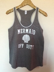 Mermaid off Duty -  Eco Ringer Tank - Mermaid Tank - Ruffles with Love