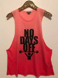 No Days Off- Red Ombre - Ruffles with Love - Graphic Tee - RWL