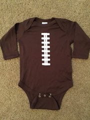 Football Onesie - Football Baby - Long Sleeve Onesie - Ruffles with Love - Baby Clothing - RWL